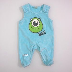 DISNEY Baby Monsters Inc. Mike Velour Overalls